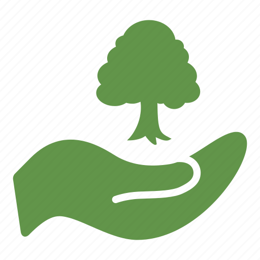 ecologic, environment, forest, gardening, hand, nature, plant icon