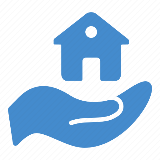 building, hand, home, house, insurance, protection, security icon