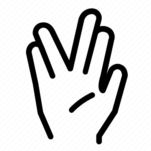 communicate, communication, conversation, hand, hand gesture, vulcan salute icon