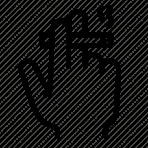 cigarette, communication, conversation, fingers, hand, smoke, smoking icon