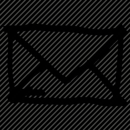 draft, email, envelope, hand drawn, handdrawn, sketch, stylist icon