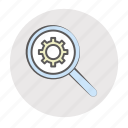 analyze, check, examine, experience, expertise, investigate, testing, trip, useability icon