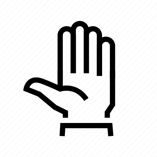 fingers, five, gesture, hand, palm icon