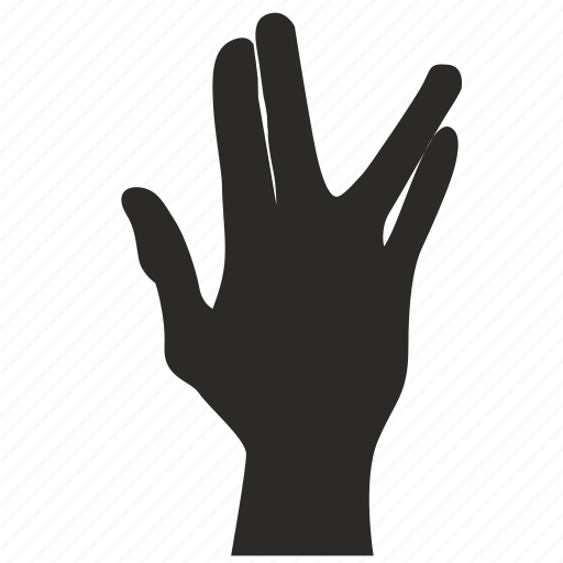 fingers, gesture, hand, hole icon