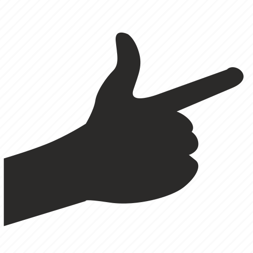 attention, finger, gesture, hand, look icon