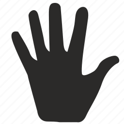 fingers, gesture, hand, hello, hi, open icon