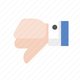 dislike, gestures, hand, touch icon