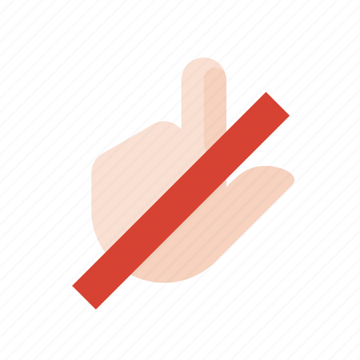 click, do, gestures, hand, not, touch icon