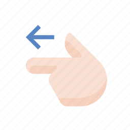 finger, gestures, hand, left, point, touch icon