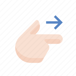 finger, gestures, hand, point, right, touch icon