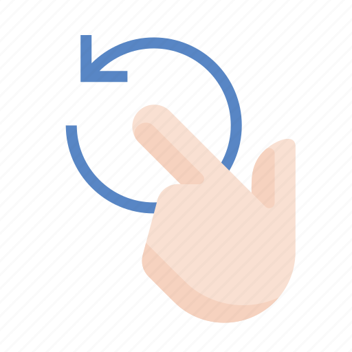 finger, gestures, hand, left, rotate, touch icon