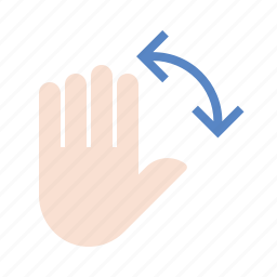 gestures, hand, rotate, touch icon