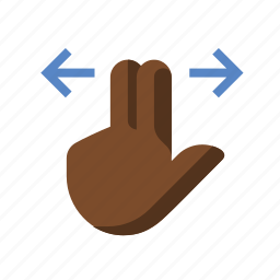 finger, gestures, hand, slide, touch, two icon