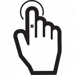 finger, hand, one, touch icon