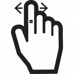 arrow, hand, left, right, touch icon