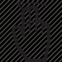 arrow, hand, left, move, swipe, touch icon