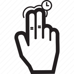 finger, hand, hold, tap, two icon