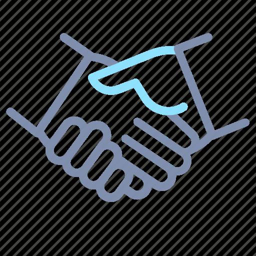 business, cooperation, deal, gesture, hand, handshake icon