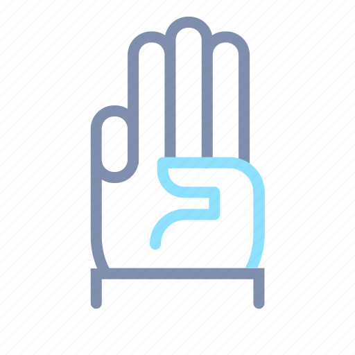 Finger, gesture, hand, number, tap, three, touch icon - Download on Iconfinder