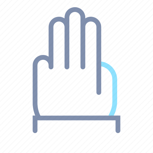 finger, gesture, hand, number, tap, three, touch icon