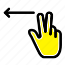 fingers, gesture, left icon