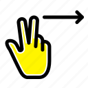 fingers, gesture, right icon