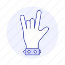 1, back, bracelet, gesture, gestures, hand, horns, love, metal, music, of, rock, sign, the, wristband, you icon