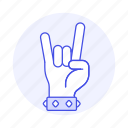 1, 2, back, bracelet, gesture, gestures, hand, horns, love, metal, music, of, rock, sign, the, wristband, you icon