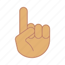 direction, gesticulate, gesticulation, gesture, hand, index finger, pointer icon