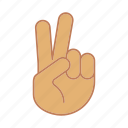 gesticulate, gesticulation, gesture, hand, peace, victory, win icon
