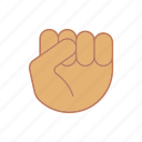 boxing, fist, gesticulate, gesticulation, gesture, hand, knuckle icon