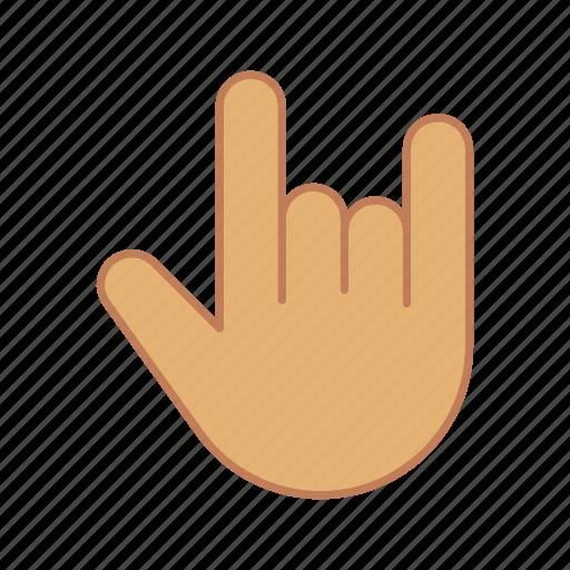 gesticulation, gesture, hand, index finger, little finger, pinky, rock icon