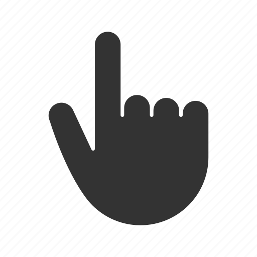 click, direction, gesticulate, gesture, hand, index finger, pointer icon