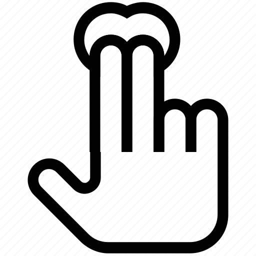 double click, fingers, hand, haw gesture, press and hold, tap icon