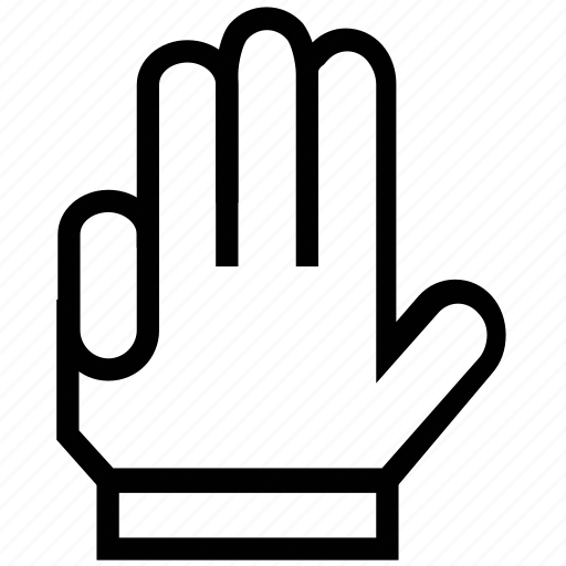 fingers, four fingers, gesture, hand, haw gesture icon