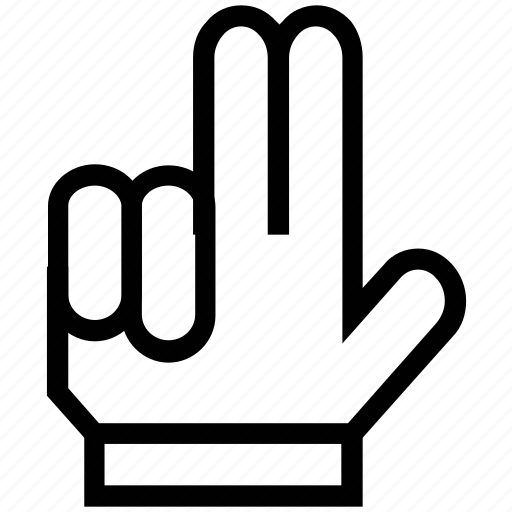 fingers, gesture, hand, multi touch, two fingers icon