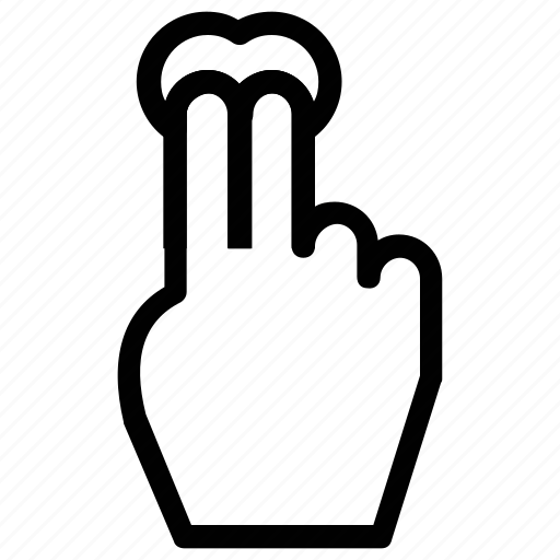 double, double click, finger, hand, push and wait icon