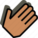 clap, finger, gesture, hand, interaction icon