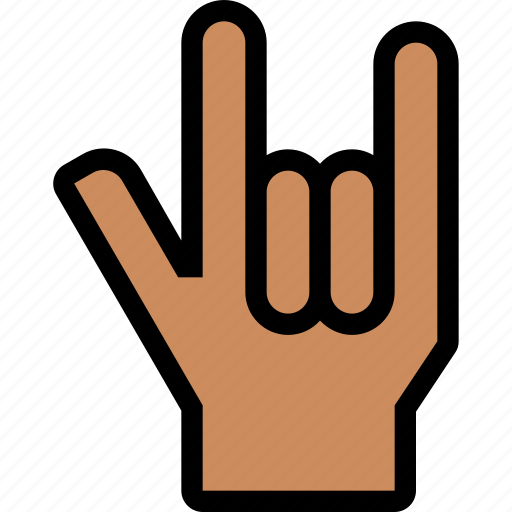 finger, gesture, hand, metal, touch icon