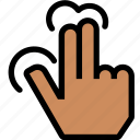 fingers, gesture, hand, move, right, three icon