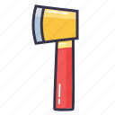 axe, chopper, hatchet, tool, wood icon