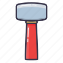blow, gavel, hammer, helve hammer, tool icon
