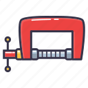 brace, clamp, clip, tool icon