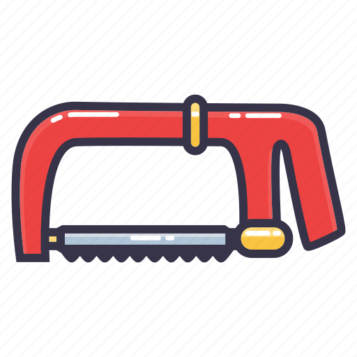 coping saw, hack saw, hand saw, saw, tool icon