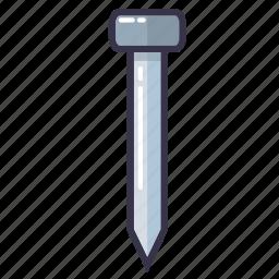 bolt, nail, nails, nut, screw, tool icon
