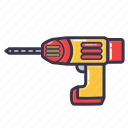 drill, hand drill, hand tool, tool icon