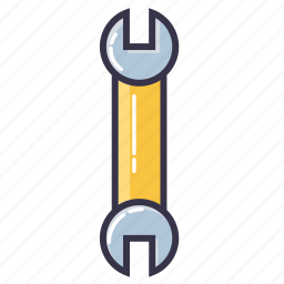 cresent wrench, key, tool, wrench icon