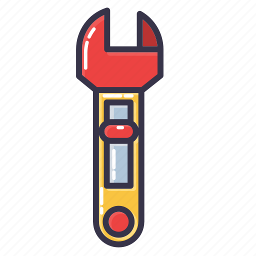 adjustable cresecent, engineer, monkey wrench, tool, wrench icon