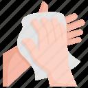clean, dry, hand, hygiene, napkin, paper, tissue