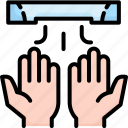 air, bathroom, clean, dryer, hand, hygiene, public icon